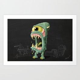 Meltmouth the Monster Art Print