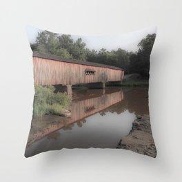 Watson Mill Historic Bridge Throw Pillow