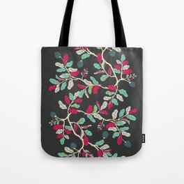 Minty Pinky Branches Tote Bag