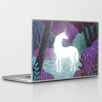 Laptop Skins featuring The Last Unicorn by Beesants