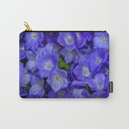 Bunch of Blue Bell Flowers Carry-All Pouch