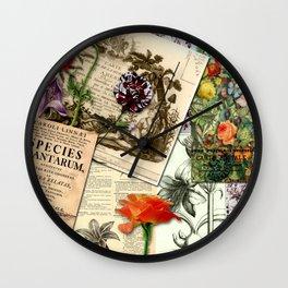 Botanical studies Wall Clock