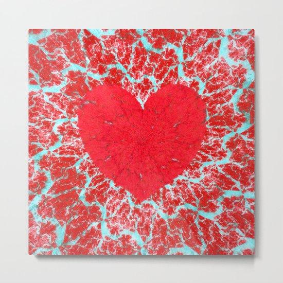Frosty heart Metal Print