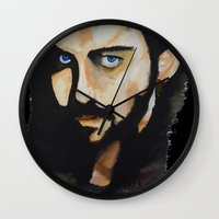 hook Wall Clocks featuring Hook by Brittany Ketcham