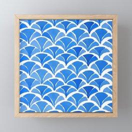 Fan Shape Watercolor Pattern Framed Mini Art Print