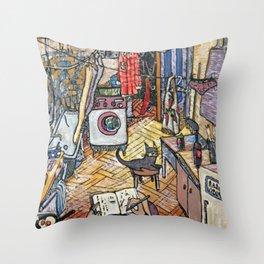 Evening in St. Petersburg Throw Pillow