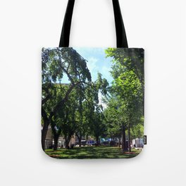 Sir Winston Churchill Square Summer Elms Tote Bag