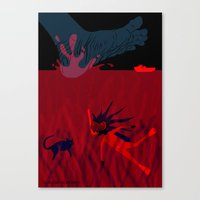 diver Canvas Prints featuring Diver by Claudia Noronha