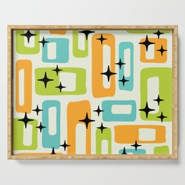 Retro Mid Century Modern Abstract Pattern 245 Serving Tray