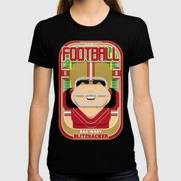 American Football Red and Gold -  Hail-Mary Blitzsacker - Amy version T-shirt