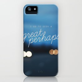 looking for alaska - great perhaps. iPhone Case