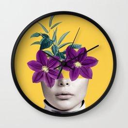 Floral Portrait 2 Wall Clock