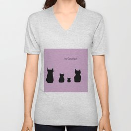 It's a cute Caturday ! Unisex V-Neck