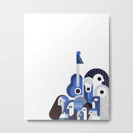 Group of People blue Metal Print
