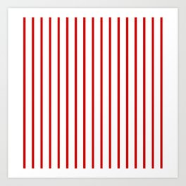 Vertical Red Stripes Pattern Art Print