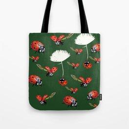 Ladybug flight Tote Bag
