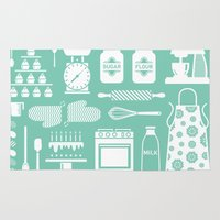 baking Area & Throw Rugs featuring Baking Graphic by Modart Design