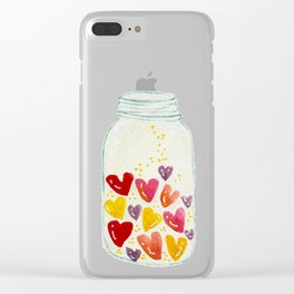 Keep my love in a bottle for you Clear iPhone Case