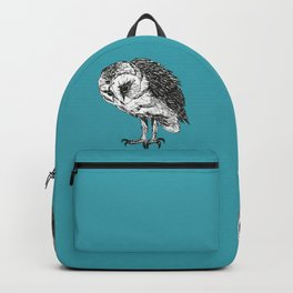 Barn owl pen drawing Backpack