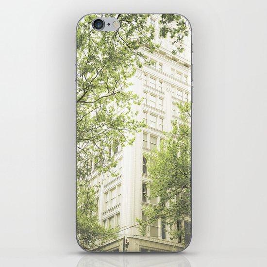 green in the grey iPhone & iPod Skin
