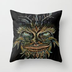 Forest Elemental Color Throw Pillow
