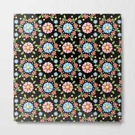 Millefiori Pinwheel Pattern Metal Print