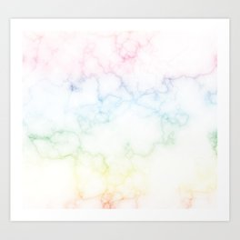 Marble Colorful Rainbow Pattern Art Print