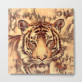 Animal ArtStudio- amazing Tiger Metal Print