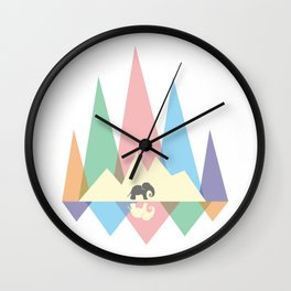 Mountain elephant #society6 #decor #buyart #artprint Wall Clock
