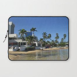Beach at Caribe Hilton, San Juan, Puerto Rico Laptop Sleeve