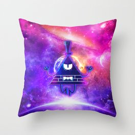 Mistical Pyramid - Enigmatic Space Throw Pillow