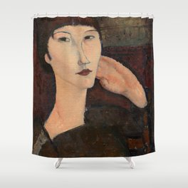 "Amedeo Modigliani ""Adrienne (Woman with Bangs)"" (1916) Shower Curtain"