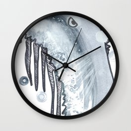 Monster rising from the water: Walter Wormwood III Wall Clock