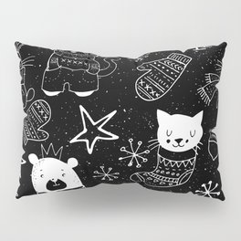 Merry Christmas - Simple X-mas Fun Doodle - Mix and Match with Simplicity of Life Pillow Sham