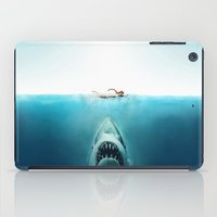 jaws iPad Cases featuring JAWS by Smart Friend