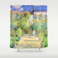 Monets Garden at Vetheuil Shower Curtain