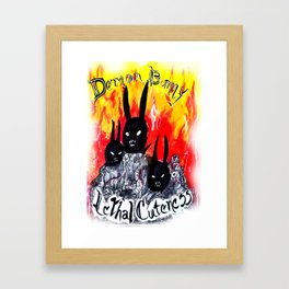 Demon Bunnies Framed Art Print