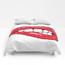 Lips Pop art Comforters
