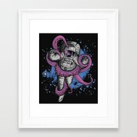 anxiety Framed Art Prints featuring Anxiety by JCMaziu
