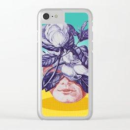 hidden face Clear iPhone Case