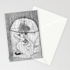 asc 514 - La fille qui aimait la pluie (Rider on the storm) Stationery Cards