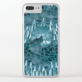 Moonlight Story (Teal) Clear iPhone Case