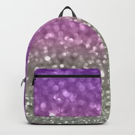 Lilac and Gray Backpack