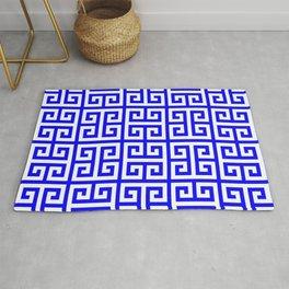Greek Key (Blue & White Pattern) Rug