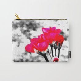 Hot Pink Flowers Pop Of Color Carry-All Pouch