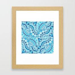 Inverted Ocean Mandalas Framed Art Print