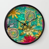 baroque Wall Clocks featuring BAROQUE by PRIMKASTUDIO