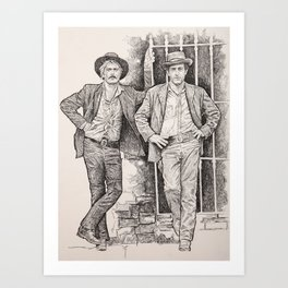 Butch cassidy and the sundance kid 2 Art Print
