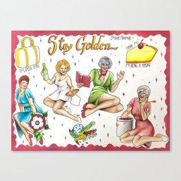 Golden Girls Flash Sheet Canvas Print