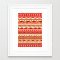 nordic Framed Art Prints featuring Nordic Stripe by Faye Maguire Designs